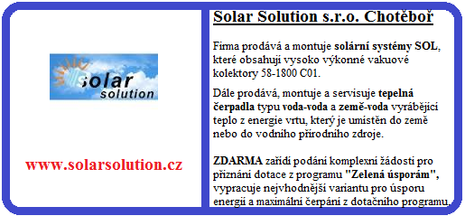 Solar Solution, s.r.o. Chotěboř